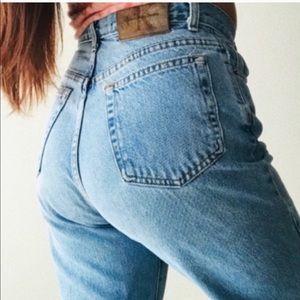 """VTG Calvin Klein High Waisted mom jeans 33 34"""""""